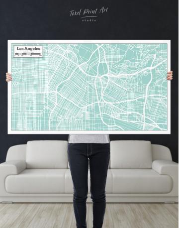 Los Angeles City Map Canvas Wall Art - image 1