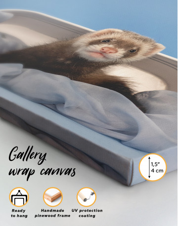 Lazy Ferret in Bed Canvas Wall Art - image 8