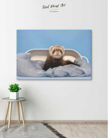 Lazy Ferret in Bed Canvas Wall Art - image 6