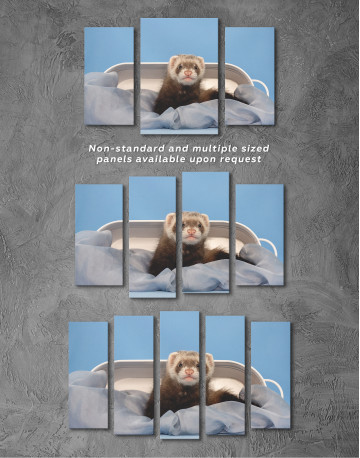 Lazy Ferret in Bed Canvas Wall Art - image 5