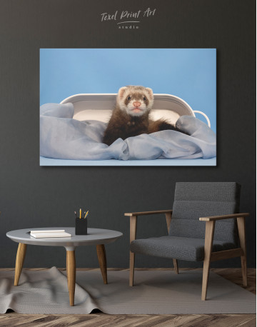 Lazy Ferret in Bed Canvas Wall Art - image 4