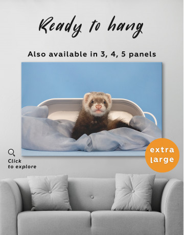 Lazy Ferret in Bed Canvas Wall Art - image 3