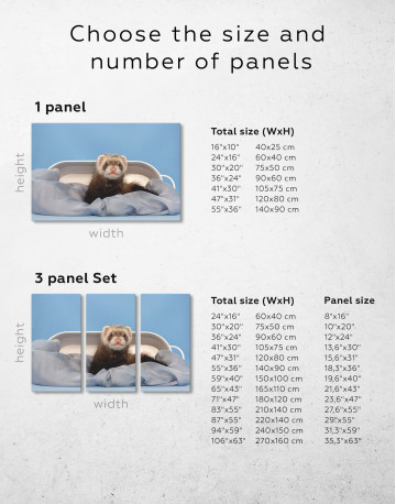 Lazy Ferret in Bed Canvas Wall Art - image 1