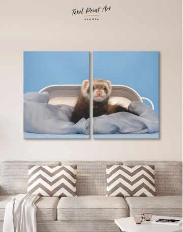 Lazy Ferret in Bed Canvas Wall Art - image 10