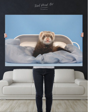 Lazy Ferret in Bed Canvas Wall Art - image 9