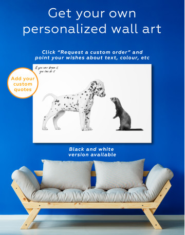 Puppy Dalmatian and Ferret Canvas Wall Art - image 7