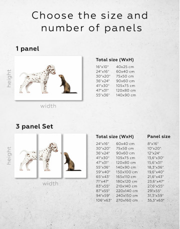 Puppy Dalmatian and Ferret Canvas Wall Art - image 1
