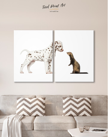Puppy Dalmatian and Ferret Canvas Wall Art - image 10