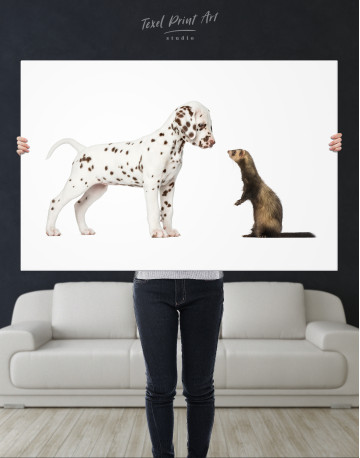 Puppy Dalmatian and Ferret Canvas Wall Art - image 9