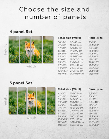 Lovely Fox in Grass Canvas Wall Art - image 2