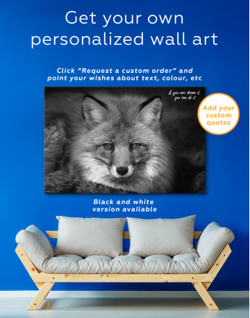 Red Fox Close Up Canvas Wall Art - image 7