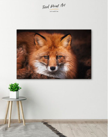 Red Fox Close Up Canvas Wall Art - image 6