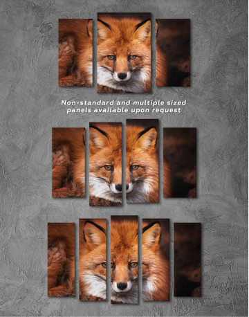 Red Fox Close Up Canvas Wall Art - image 5