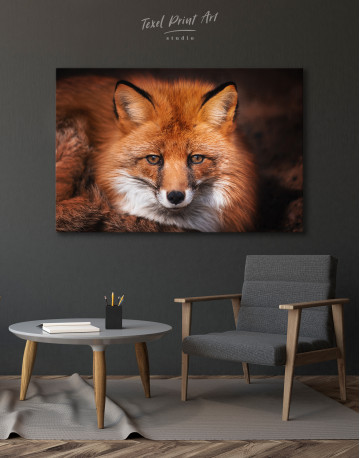 Red Fox Close Up Canvas Wall Art - image 4