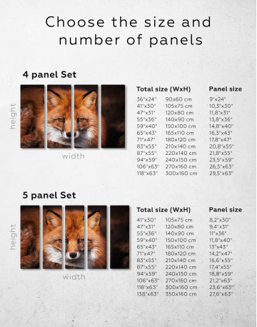 Red Fox Close Up Canvas Wall Art - image 2