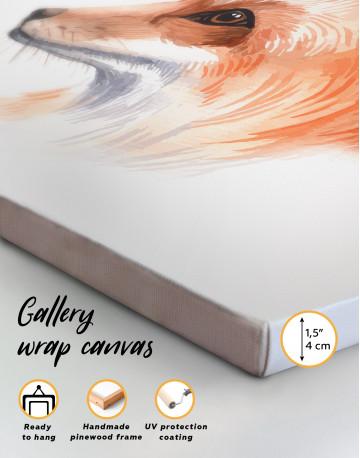 Watercolor Fox Painting Canvas Wall Art - image 4