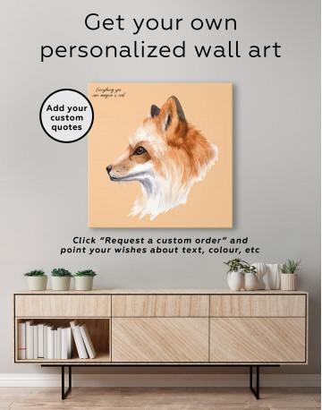 Watercolor Fox Painting Canvas Wall Art - image 3