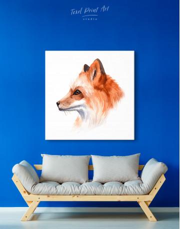 Watercolor Fox Painting Canvas Wall Art - image 2