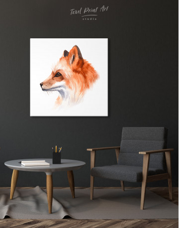 Watercolor Fox Painting Canvas Wall Art - image 5