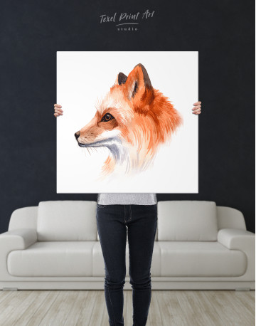 Watercolor Fox Painting Canvas Wall Art - image 6
