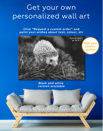 Hedgehog on Green Forest Canvas Wall Art - image 7