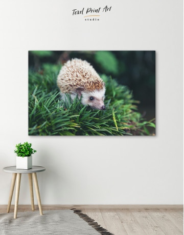 Hedgehog on Green Forest Canvas Wall Art - image 6