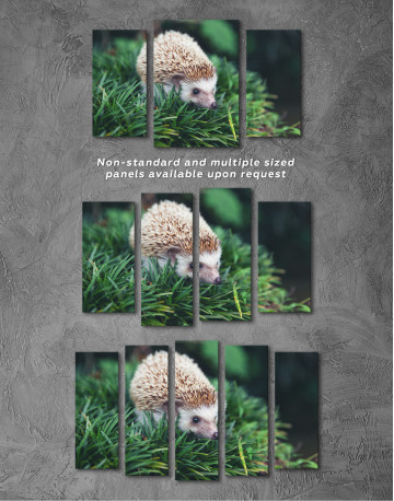 Hedgehog on Green Forest Canvas Wall Art - image 5