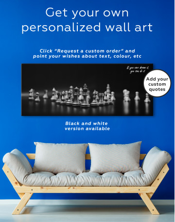 Panoramic Chess Game Canvas Wall Art - image 2