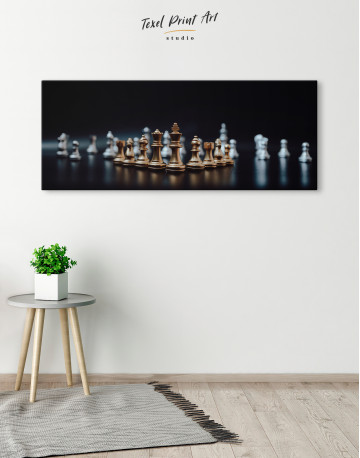 Panoramic Chess Game Canvas Wall Art - image 4