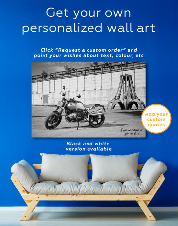 BMW R Nine T Scrambler Canvas Wall Art - image 3