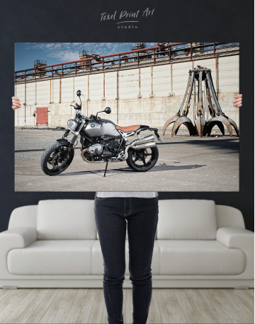 BMW R Nine T Scrambler Canvas Wall Art - image 1