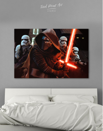Kylo Ren with Stormtroopers Canvas Wall Art
