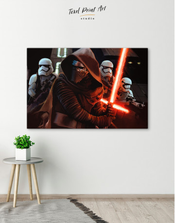 Kylo Ren with Stormtroopers Canvas Wall Art - image 4