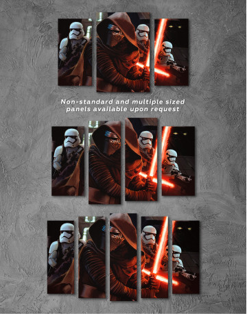 Kylo Ren with Stormtroopers Canvas Wall Art - image 7