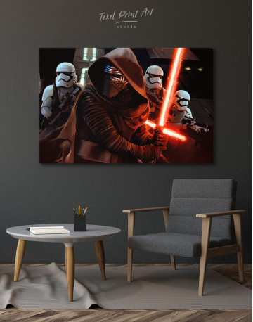 Kylo Ren with Stormtroopers Canvas Wall Art - image 6
