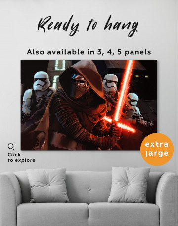 Kylo Ren with Stormtroopers Canvas Wall Art - image 8
