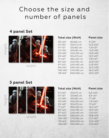 Kylo Ren with Stormtroopers Canvas Wall Art - image 9
