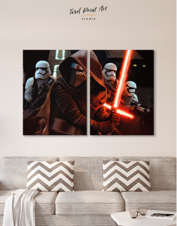 Kylo Ren with Stormtroopers Canvas Wall Art - image 10