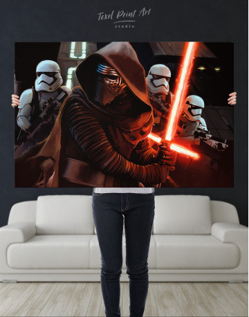Kylo Ren with Stormtroopers Canvas Wall Art - image 2