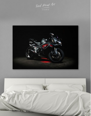 Black Suzuki GSXR Canvas Wall Art