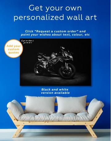 Black Suzuki GSXR Canvas Wall Art - image 6