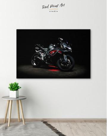 Black Suzuki GSXR Canvas Wall Art - image 5