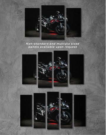 Black Suzuki GSXR Canvas Wall Art - image 4
