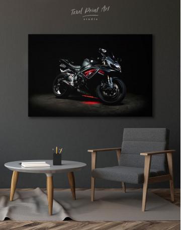 Black Suzuki GSXR Canvas Wall Art - image 2