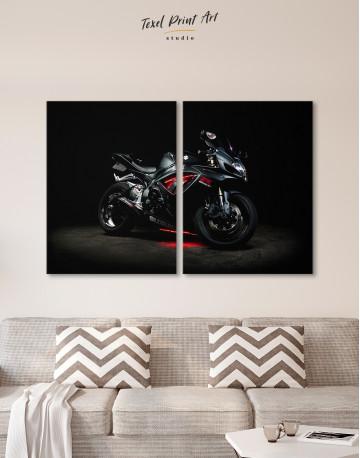 Black Suzuki GSXR Canvas Wall Art - image 8