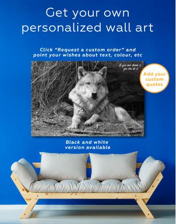 Wild Gray Wolf Canvas Wall Art - image 4