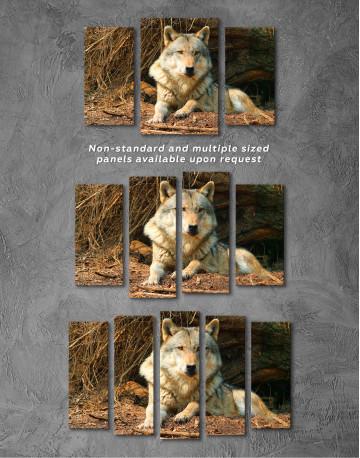 Wild Gray Wolf Canvas Wall Art - image 5
