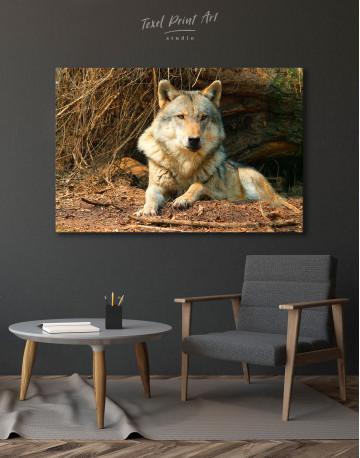 Wild Gray Wolf Canvas Wall Art - image 7