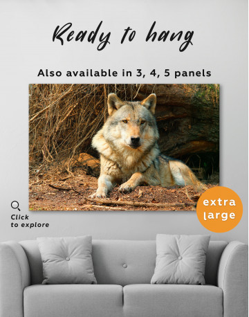 Wild Gray Wolf Canvas Wall Art - image 8