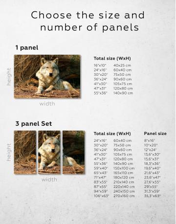 Wild Gray Wolf Canvas Wall Art - image 3